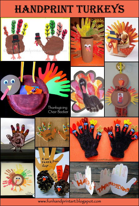 Handprint Turkey Thanksgiving Crafts