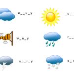 Weather words - le parole del clima